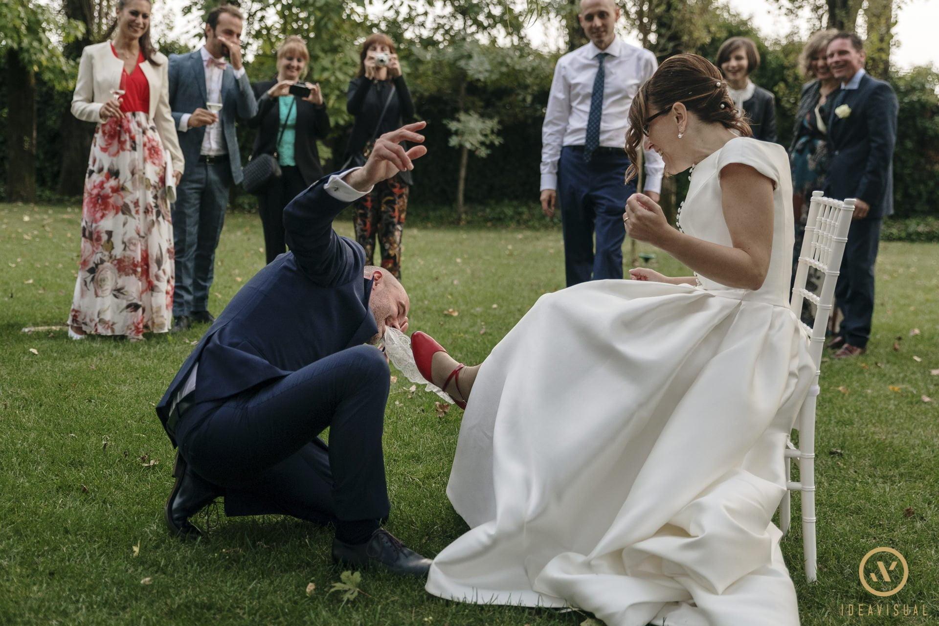 foto giarrettiera matrimonio tenuta polvaro