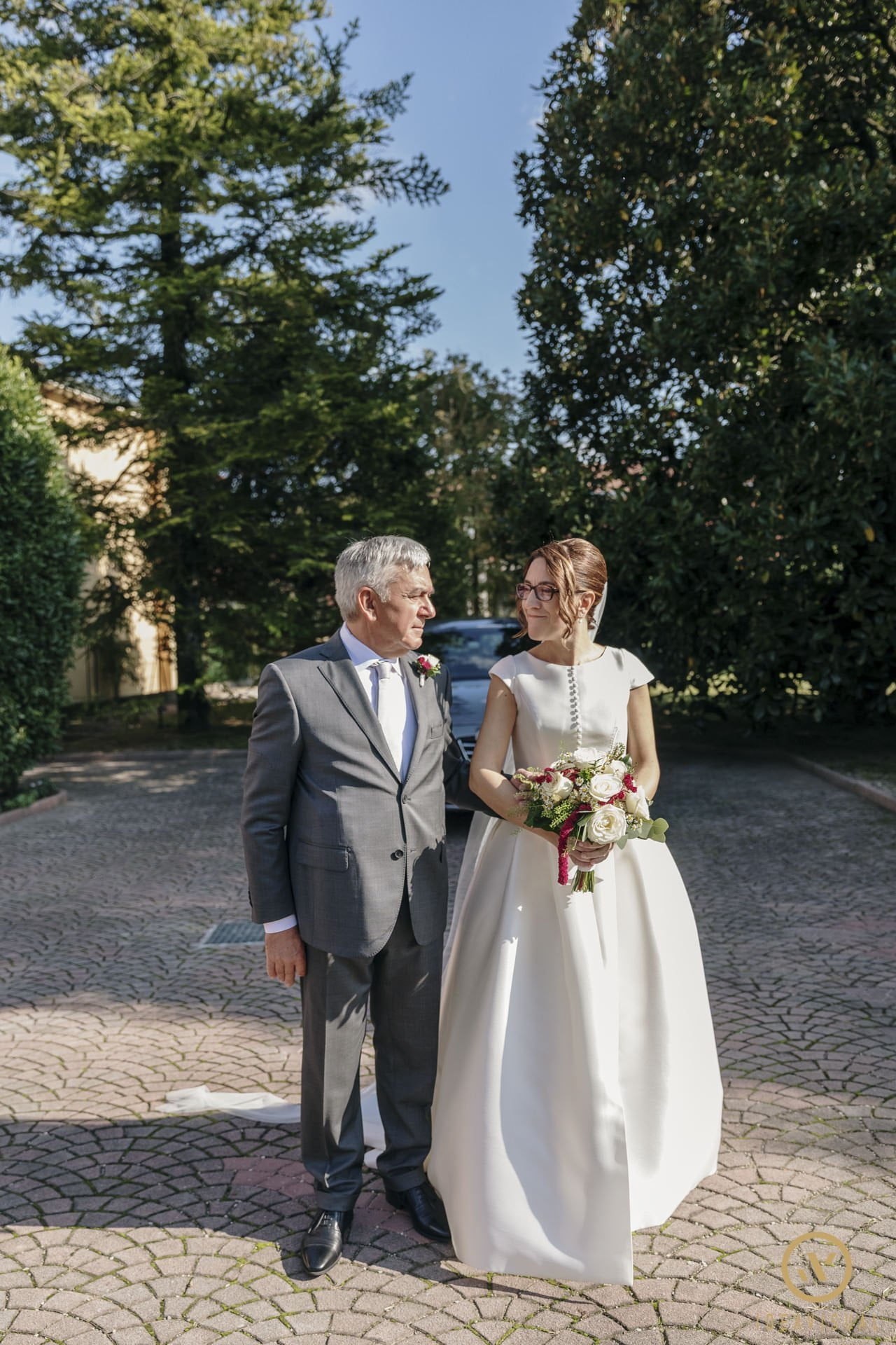 sposa con papà matrimonio pasiano pordenone