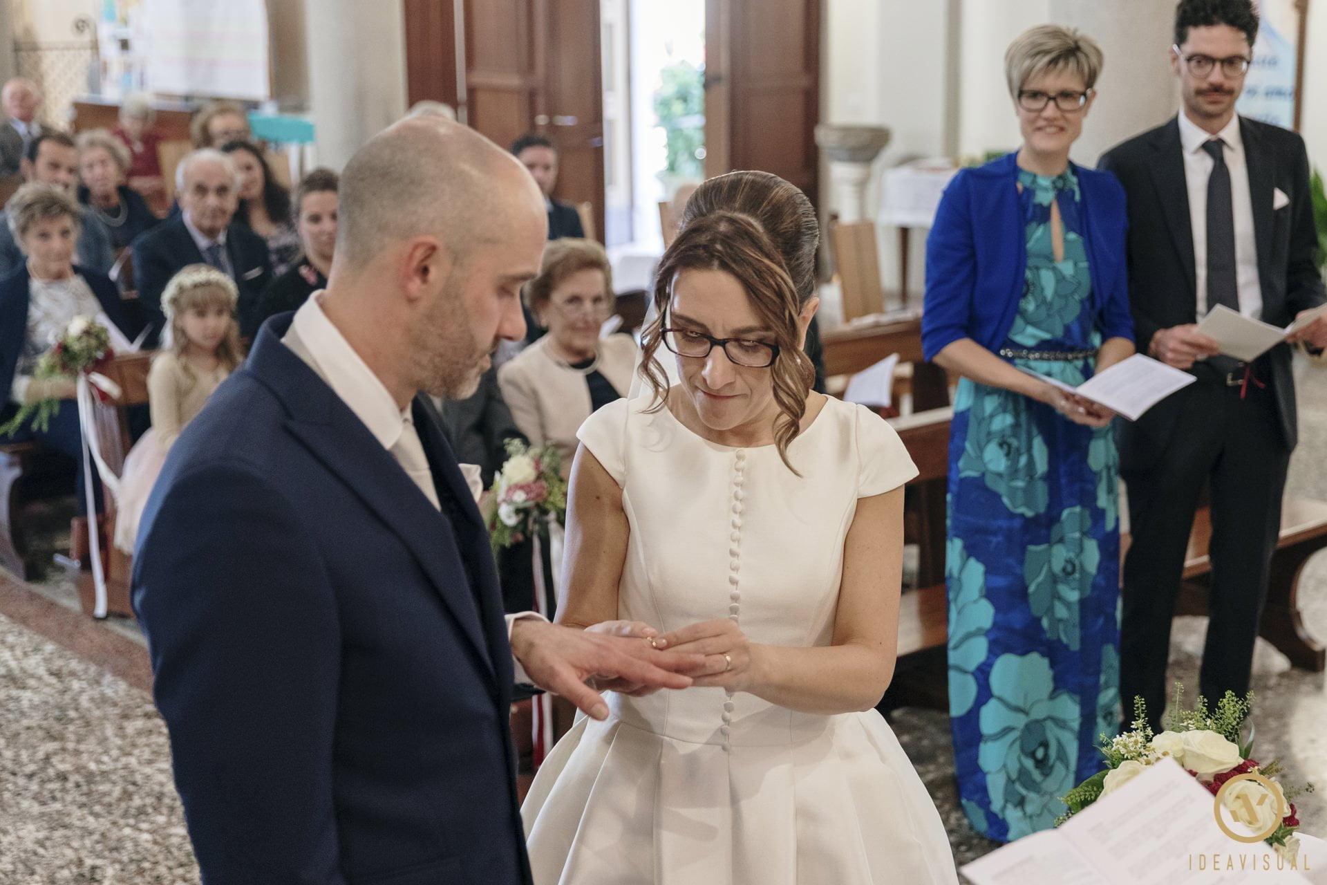 scambio fedi sposi chiesa matrimonio pasiano pordenone